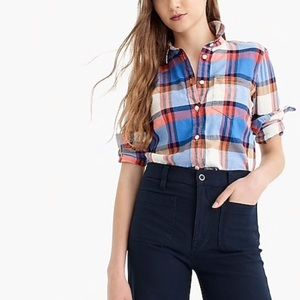 J. Crew Classic-fit boy shirt in pacey plaid